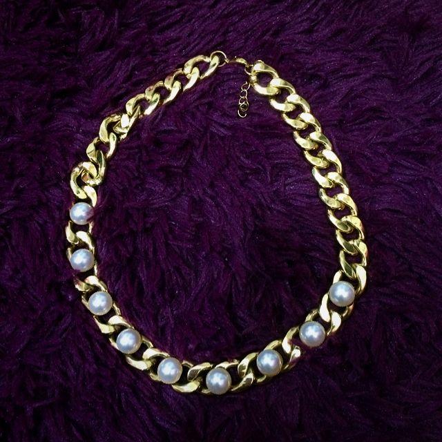 珍珠鎖鏈項鍊 頸鏈 鎖骨鏈