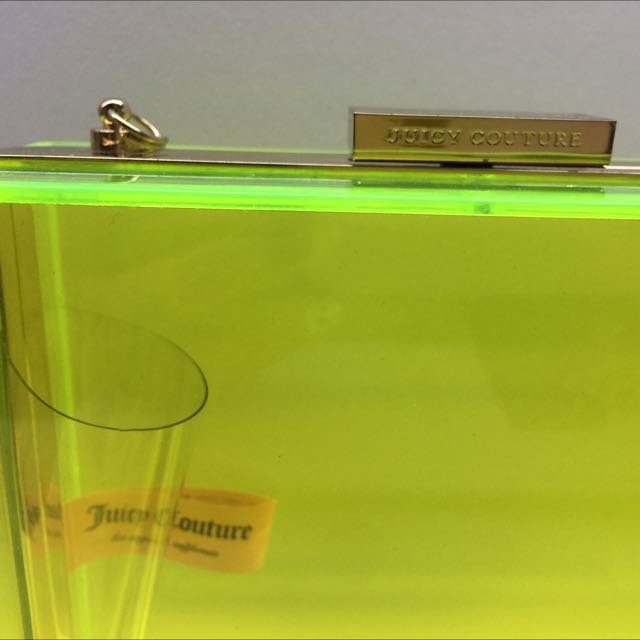 Brand New Juicy Couture Perspex Clutch Sling Box Bag