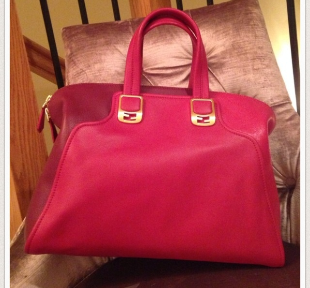 Fendi Dufflebag Chaneleon Red