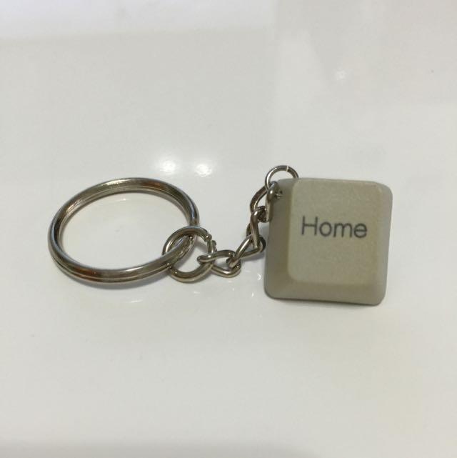 (手工)鍵盤鑰匙圈-Home