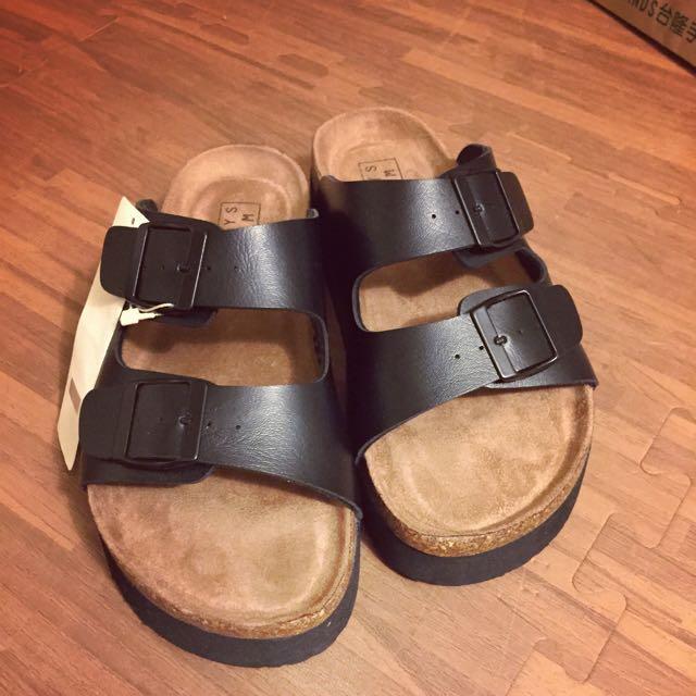 Lowrys Farm 厚底寬帶拖鞋(全新)