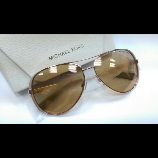 MK玫瑰金框太陽眼鏡