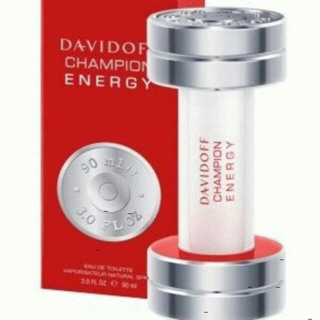 Original Parfum Davidoff Champion Energy Edt 100ml Health Beauty