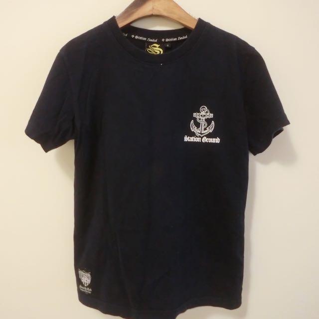 深藍色海軍T