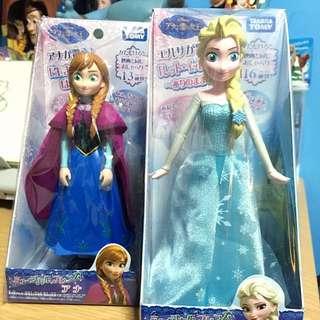 Elsa and Anna by Tomy Takara