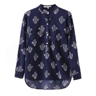 (PO) Porcelain Print Crafted Top