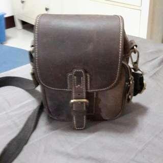 真皮方側背包
