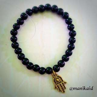 Hamsa In Black Bracelet