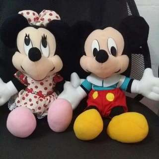 Mickey And Minnie Mouse Plushie