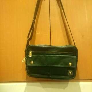 【正版】porter 限量版墨綠側背包