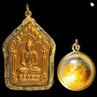 Khunpaen With Two Gold Takrut And LoopOm