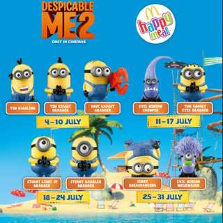 Looking For : MacDonalds Happy Meal Minions 😶