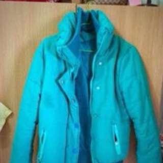 綠色棉質厚外套