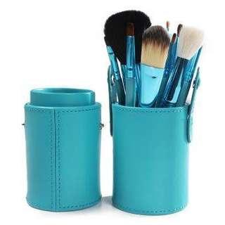 12 pcs Pro Makeup Brush Set Kit wt Leather Case
