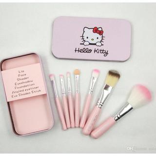 Hello Kitty 7 pcs Makeup Brush Set with metal casing