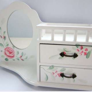 English Wooden Table Drawer w/mirror