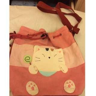 貓咪拼布包