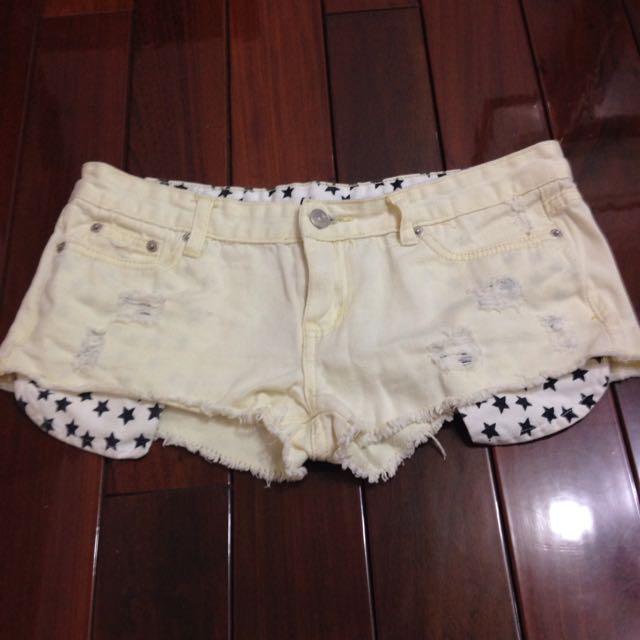 (黃色)星星口袋熱褲