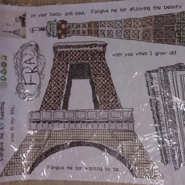 全新法國風情壁貼