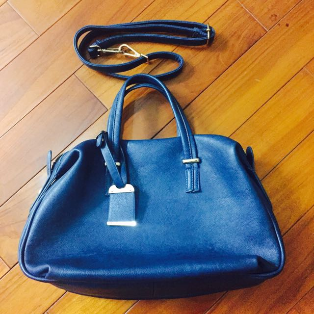 深藍手提包(可斜背)