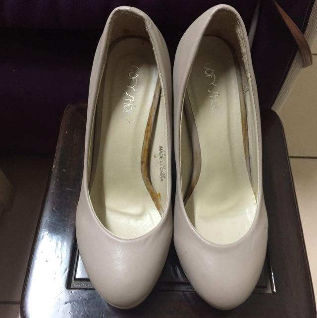 24.5cm 全新裸色高跟鞋