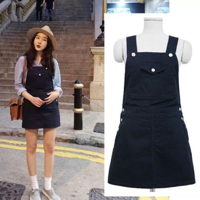韓國 水藍襯衫+吊帶裙 全新