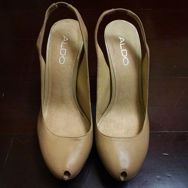ALDO 裸色小性感高跟鞋 (7成新)