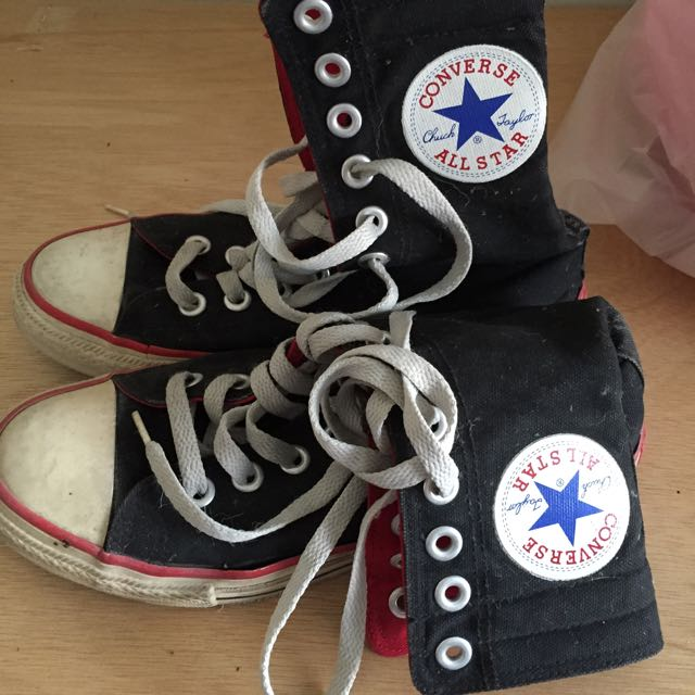 正品 allstar 黑色高筒鞋含運