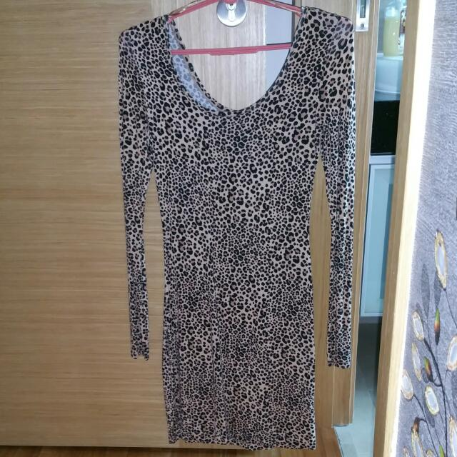 25af986e707b H & M Leopard Print Dress For Sale, Women's Fashion on Carousell