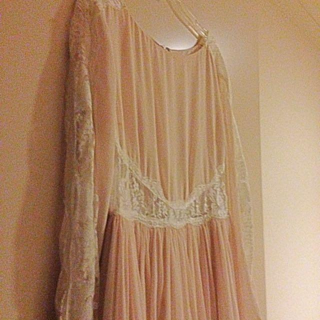 Lace Insert Dress Size 10