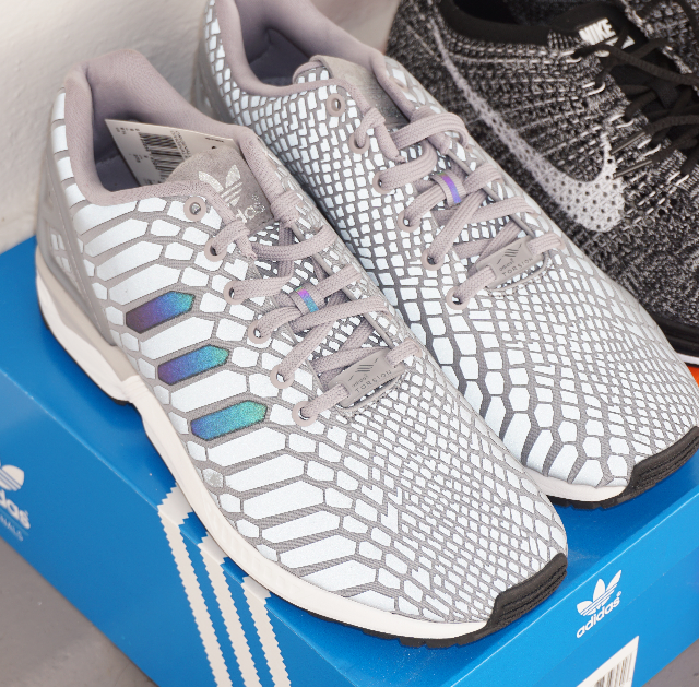 official photos af0d0 da7cd Snakeskin Adidas ZX Flux Xeno Silver Grey