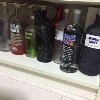 Empty Vodka Bottles