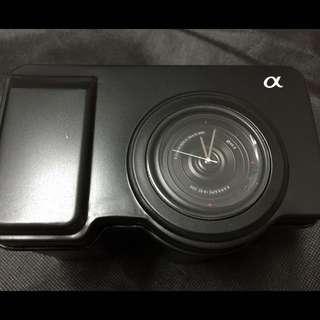 免運💃全新正品 Sony NEX 黑色相機鏡頭造型手錶💃