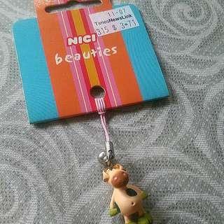 (含運)NICI綠點點小豬鈴鐺吊飾