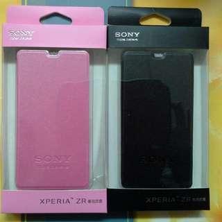 Sony Xperia ZR C 5502原廠皮套~側掀/側翻/書本式皮套~黑色