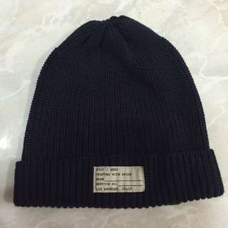 FUCT毛帽 深藍色 99.9成新