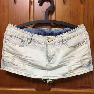 刷白牛仔短褲 八成新