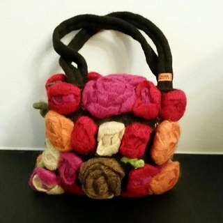 Miss Sixty Woollen Clutch Bag