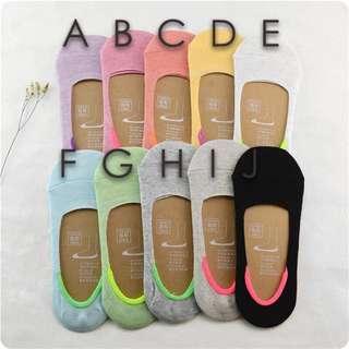 彩色隱形襪👣無痕&止滑