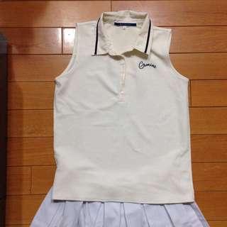 網球/運動風格/雪紡/清涼/無袖上衣