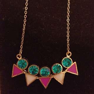 韓系 色彩繽紛 幾何圖形項鍊