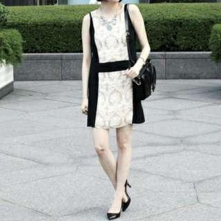 古典花紋洋裝