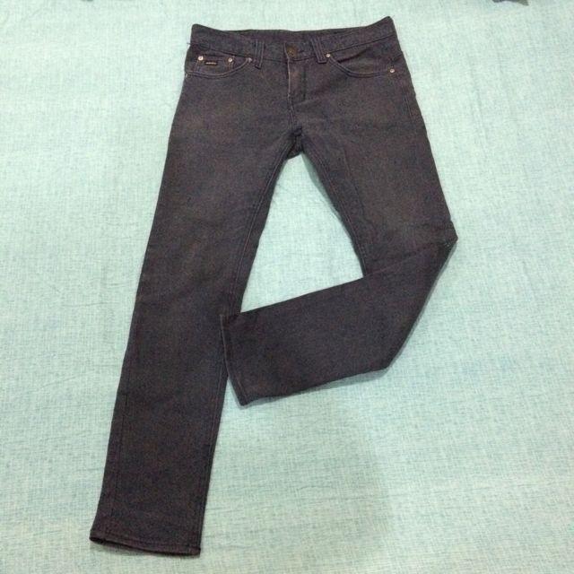 韓系超窄版男性牛仔長褲
