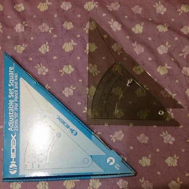 調節式三角板(製圖用)