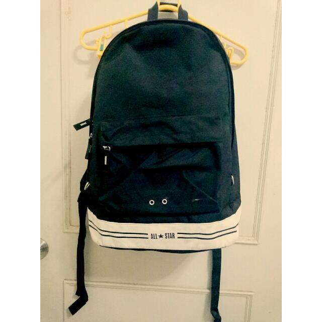 (保留)✨含運✨正版All Star黑色大容量經典後背包