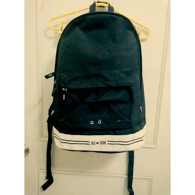 ✨含運✨正版All Star黑色大容量經典後背包