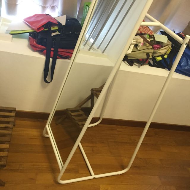 Ikea \'KNAPPER\' standing mirror, Furniture on Carousell