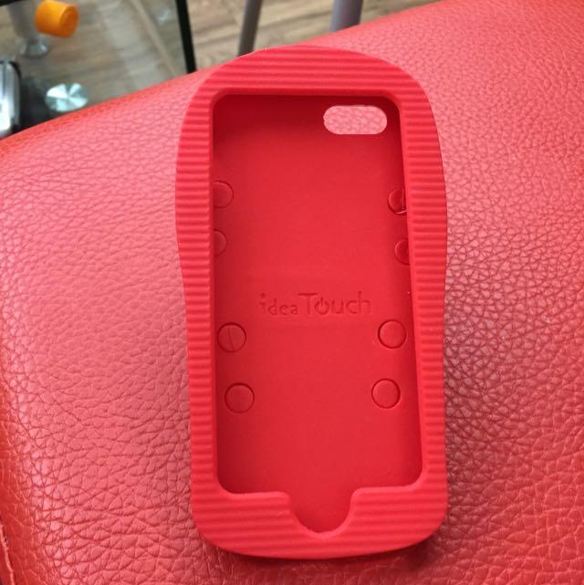Iphone 5紅白拖手機殼