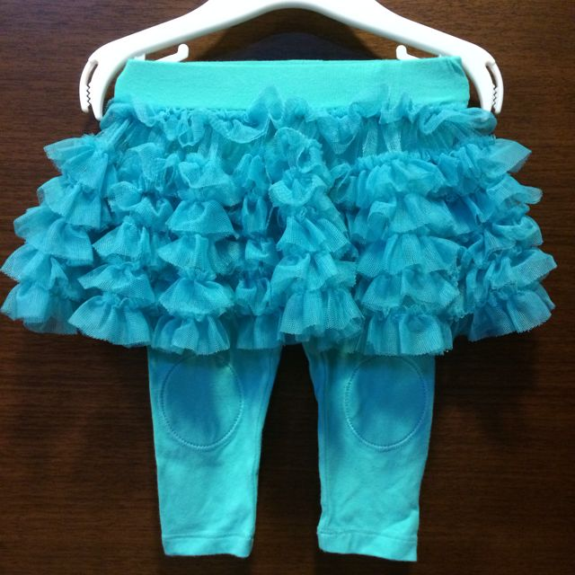 湖水綠澎裙legging