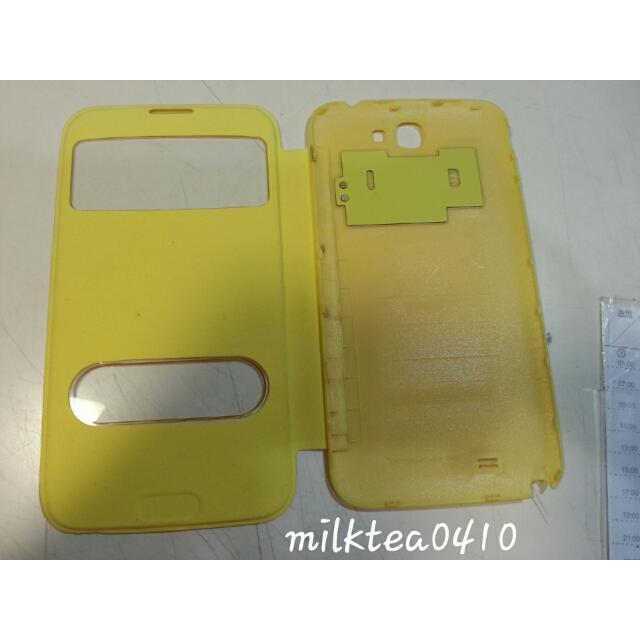 note2掀蓋黃色手機殼